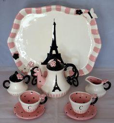 Child's Tea in Paris by speeglecreations on Etsy, $73.00