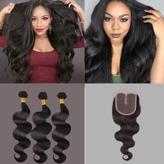 8A Body Wave Hair With Lace Closure
