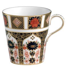 Shop the Old Imari Mug by Royal Crown Derby, luxury bone china dinnerware crafted in England with a rich Asian-inspired design finished in gold. Mugs Uk, China Mugs, Royal Crown Derby, Crown Royal, China Dinnerware Sets, Deco Paint, Painted Jars, China Porcelain, Chinoiserie