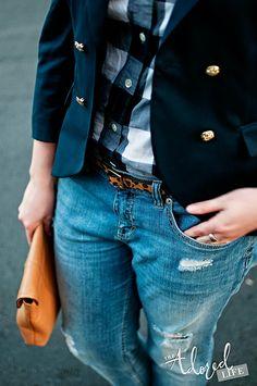 Jeans + Leopard + Blazer = WOW : Inspiration : MartaBarcelonaStyle's Blog