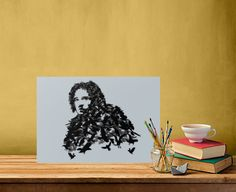 Kit Harington as Jon Snow (Game of Thrones) Poster made out of metal by @savousepate on @displate #artprint #homedecor