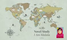 I Am Malala Novel Study Package - includes over 50 pages of materials, activities, and projects!