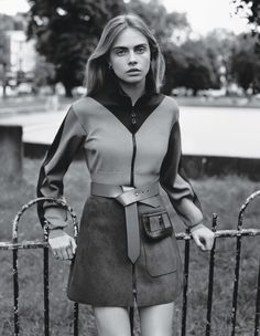 Looking Back at Cara Delevingne  - Cara Delevingne in W Magazine