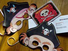 Free pirate printable mask & invitation