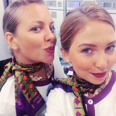 Etihad Airways Stewardesses Crewfie