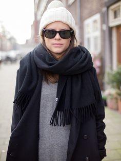 acne studios canada scarf, black
