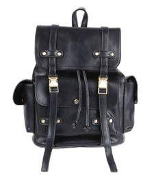 Buy Black plain backpacks backpack online