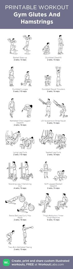 Gym Glutes And Hamstrings workoutlabs.com/