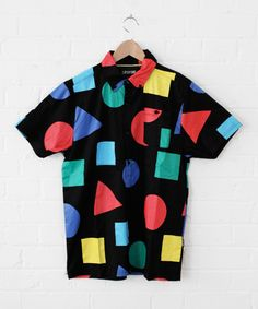Lazy Oaf Primary Shape Short Sleeve Shirt.