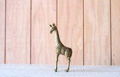 Brass Giraffe // Solid Brass by genrestoration on Etsy, $24.00
