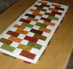 Bricks and Blocks Table Runner | For Thanksgiving, 2008. Mac… | Flickr