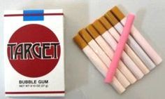Did we really have bubblegum cigarettes?  Did our parents really let us 'smoke' 'em lol?