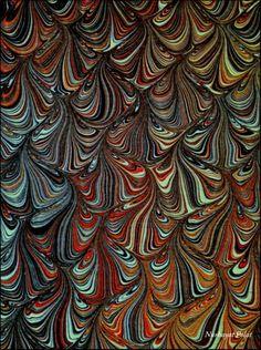 Marbled paper/ ebru by Artpiste Artpiste- Nurhayat Polat. peri (24)