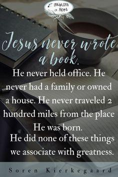 Jesus Redefines Success // Soren Kierkegaard // Christian Quote // Life of Christ