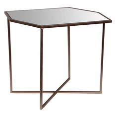 Privilege International Square Accent Table - Champagne - 18920