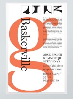baskerville typographic poster on Behance