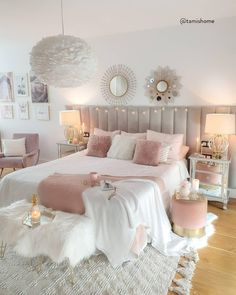 Pink has become a highly desirable accent colour not just in sugary sweet little girls rooms but in sophisticated. Pink Bedroom Decor, Room Design Bedroom, Bedroom Decor For Teen Girls, Cute Bedroom Ideas, Girl Bedroom Designs, Room Ideas Bedroom, Master Bedroom, Pink Teen Bedrooms, Room Ideas For Girls