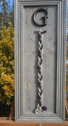 A cord of three strands, unity, colored cord,wedding unity ceremony, alternative unity symbolism, God's knot, wood wedding sign, unity braid by TheGrayDazey on Etsy