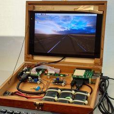 Cigar Box Opens to Raspberry Pi Laptop   Hackaday