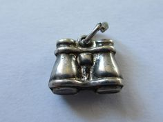 Sterling Silver Binoculars Charm Pendant Etsy Gift by PGSCoins
