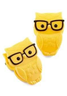 CUTE. Owl and Later Clips, #ModCloth