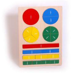 Drewniane puzzle UŁAMKI