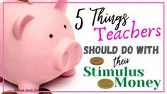 Some smart ideas to help teachers make the most of their recent stimulus check Sight Singing, Learning Stations, Middle School Teachers, Math Teacher, Classroom Activities, Classroom Management, Teacher Resources, Improve Yourself, Teaching