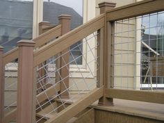 hog wire deck railing plans - Google Search