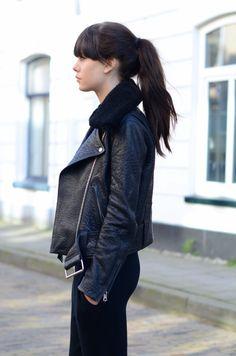 Acne shearling collar jacket -