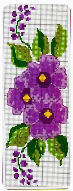 Cross Stitch Borders, Cross Stitch Designs, Cross Stitch Patterns, Filet Crochet, Pansies, Crochet Flowers, Beading Patterns, Cross Stitch Embroidery, Needlepoint