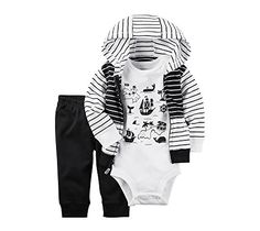 005744c77a3e3 Carters Baby Boys 3Piece Map bodysuit And Cardigan Set Newborn -- Click  image to review