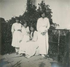 The Romanov sisters. L to R: Anastasia, Olga, Maria, and Tatiana.