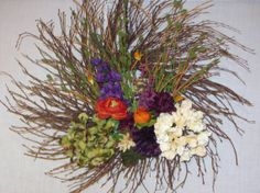 Classic Spiral Floral Wreath by MomsDownTime on Etsy, $35.00