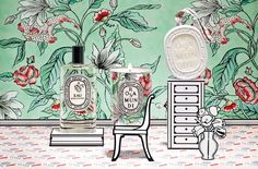 Diptypque and Antoinette Poisson for Rosa Mundi
