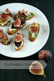 Authentic Suburban Gourmet: Fig Crostini Trifecta   Friday Night Bites