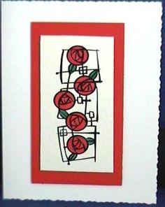 Rennie Mackintosh roses card