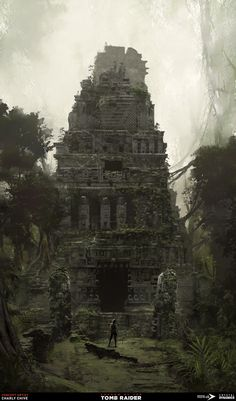 ArtStation - Shadow Of The Tomb Raider / Environments Concept Art, Charly Chive Tomb Raider Film, Tomb Raider Game, Tomb Raider Lara Croft, Canvas Art Projects, Animal Art Projects, Environment Concept Art, Environment Design, Fantasy Landscape, Fantasy Art