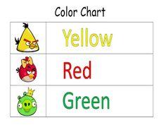 Educational Kismet : Angry Birds Color Chart