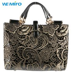Find More Totes Information about 2014 Winter Vintage Lace Bag For Women Ladies Leather Tote Bags Female Retro Black Handbag Flower Grab Handbag Free Shipping,High Quality handbag world,China bag usa Suppliers, Cheap handbag trendy from Wemiro Store on Aliexpress.com