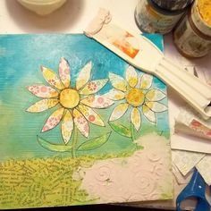 Dream Flowers: Mixed Media Collage with Guest Artist Caitlin Dundon | Somerset Place The Official Blog of Stampington  Company