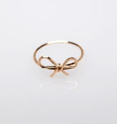 Pretty little bow ring.