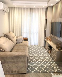 Apartment Living, Living Room Sofa, Home Design Decor, Interior Design, Simple Living Room Decor, Minimalist Apartment, Cottage Living, Design Case, Little Houses