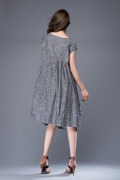 9f49a22a01630 Linen tunic Linen dress plus size dress summer dress woman Linen Tunic  Dress