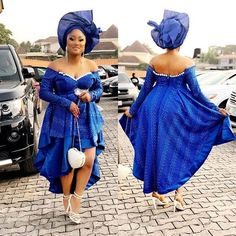 Serving Fresh Stew In Peng Asoebi Styles – A Million Styles at Diyanu African Maxi Dresses, African Dresses For Women, African Attire, African Wear, Shweshwe Dresses, African Clothes, African Style, African Women, Nigerian Dress Styles