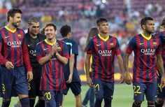 Messi y Naymar humillan al Santos
