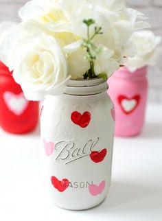 Mason Jar Craft Ideas for Valentine Day