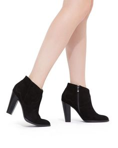 Classic and sleek black booties by ShoeMint