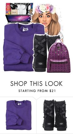 """""""☂♏️☮✝"""" by zanise ❤ liked on Polyvore featuring JERZEES, UGG Australia and MCM"""