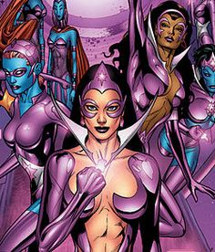 """The Star Sapphires """"For hearts long lost and full of fright, For those alone in blackest night, Accept our ring and join our fight, Love conquers all-- with violet light!"""