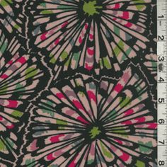 Black Multi Floral Challis